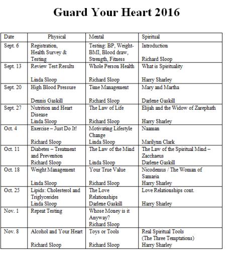 2016 GYH Schedule